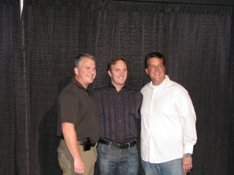 David Harris with Jay Moore and Dean Cost
