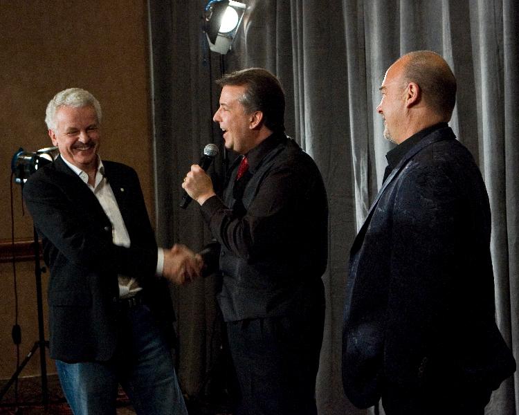 David Harris with Jim Belushi and Jorg
