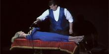David Harris Magic performs zaney blaney ladder levitation